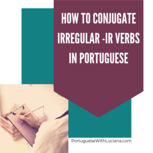 verbos irregulares em -ir