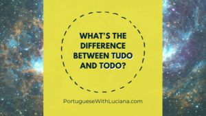 What's the difference between TUDO and TODO in Portuguese?